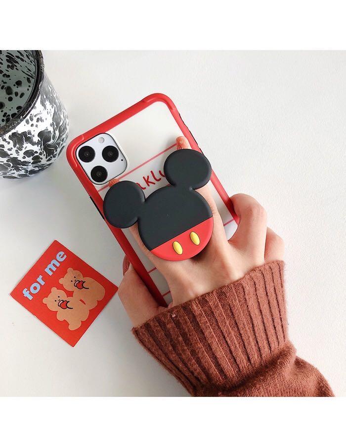 Cute Cartoon Phone Holder Universal Folding Stand Airbag Gasbag Bracket Phone Socket For IPhone 11 Samsung S20 Xiaomi MI 10
