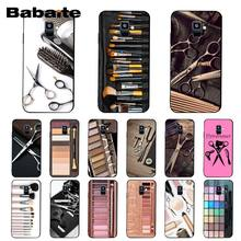 Babaite Naked Palette Mode Glam Make-Up tool haar Telefoon Geval Voor Samsung Galaxy A7 2018 A50 A70 A8 A3 A6 a6Plus A8Plus A9 2018(China)
