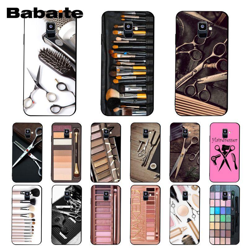 Babaite Naked paleta de moda Glam herramienta de maquillaje de la caja del teléfono del pelo para Samsung Galaxy A7 2018 A50 A70 A8 A3 A6 A6Plus A8Plus A9 2018