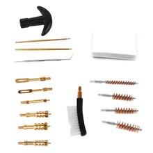 16PCS Rifle Cleaning Kit Barrel Brush Kit for Most Caliber Handguns 22 357 38 40 44 45 9mm Gun Cleaning Set