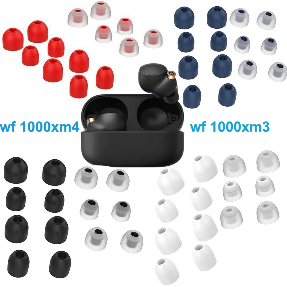 7Pairs Soft Silicone Ear Tips Case for Sony WF 1000XM4 1000XM3 Headphones Earbuds Eartip Accessories L/M/S/XS