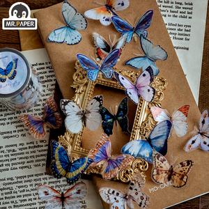 Image 3 - Mr.Paper Butterfly Peony Colorful Insect Cut off Rule Line Bullet Journaling Washi Tape Scrapbooking DIY Decoration Masking Tape