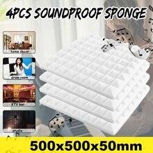 Soundproofing-Studio Acoustic Panels 500x500x50mm Home Foam-Treatment for Office School-Ktv