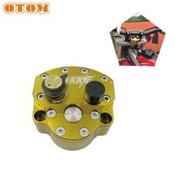 OTOM Universal Reversed Safety Adjustable Steering Damper Stabilizer Motorcycle CNC Billet Aluminum For Accessories Dirt Bike