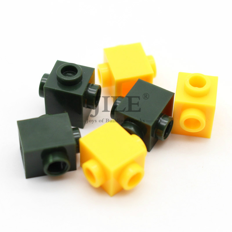 Moc Brick Modified 1x1 With Studs On 2 Sides Opposite 47905 DIY Creative Building Blocks Bricks Sets Compatible Assembles Parts