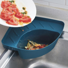 Ventosa pia canto drenagem cesta prateleira multifuncional pia rack de drenagem esponja titular organizador casa cocina acessórios da cozinha