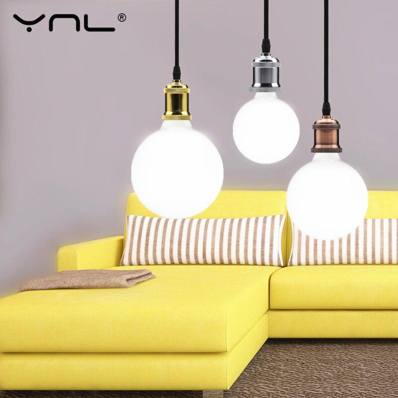 Светодиодный светильник молочно-белого цвета E27, светодиодный светильник 220 В 110 В G80 G95 G125 лампочки с ампулой светодиодный светильник холодн...