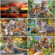 DIY Tiger 5D Diamond Painting Full Square/Round Drill Resin Animal Diamont Embroidery Mosaic Cross Stitch Kits Home Decor