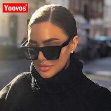 Yoovos 2021 Vintage Classic Sunglasses Women Retro Plastic Candy Color Lens Glasses Luxury Outdoor Travel Lentes De Sol Mujer