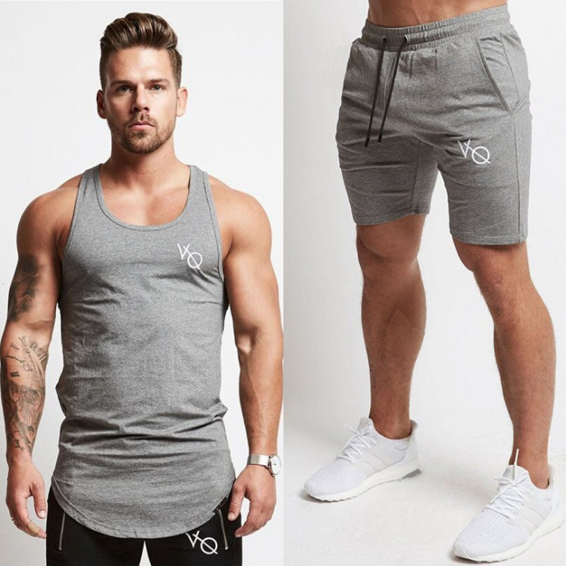 2019 New Fashion Summer Short Sets Men Casual Printing Suits For Men Chinese Style Suit Sets Tank Tops + Shorts