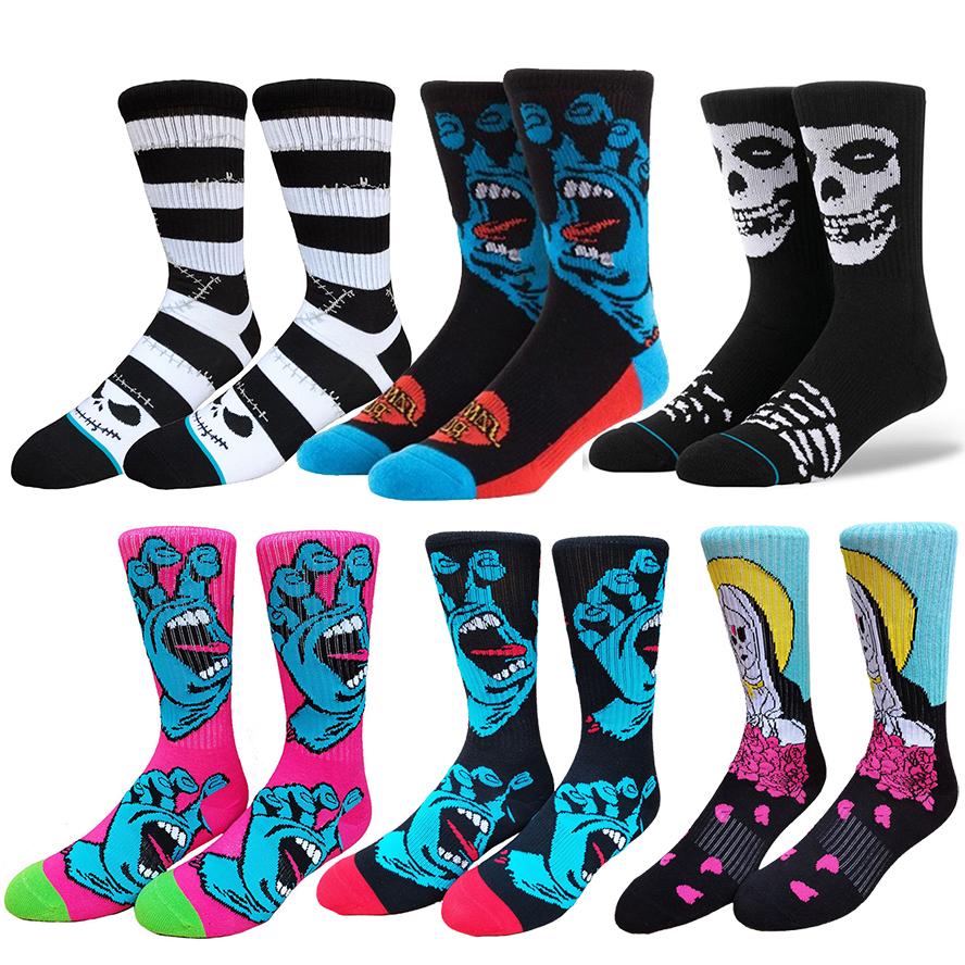 Scream Hand Skater Hip Hop Funny Socks Men Streetwear Skater Skateboard socks