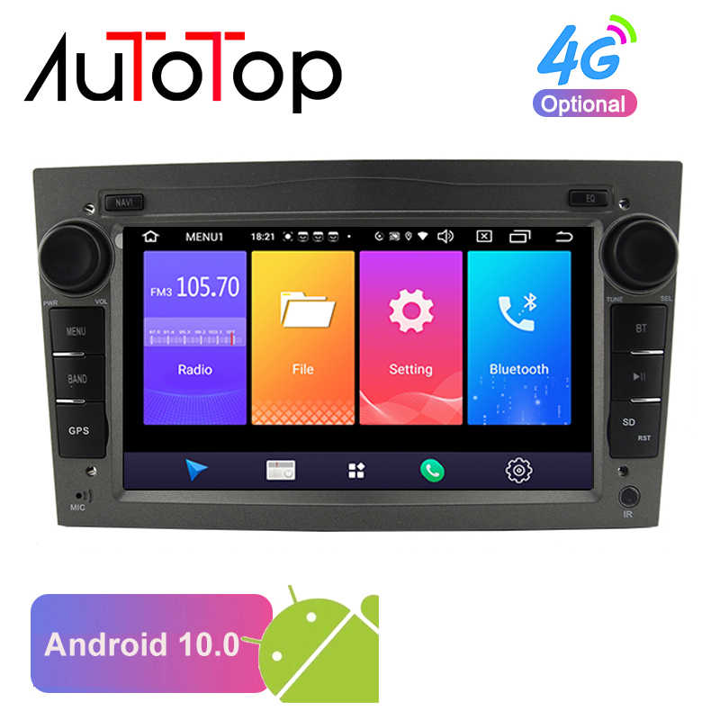 "AUTOTOP 7 ""2din Android 10.0 Car Radio Player per Opel Vauxhall Astra H G J Vectra GPS di Navigazione RDS wifi Mirrorlink BT NO DVD"