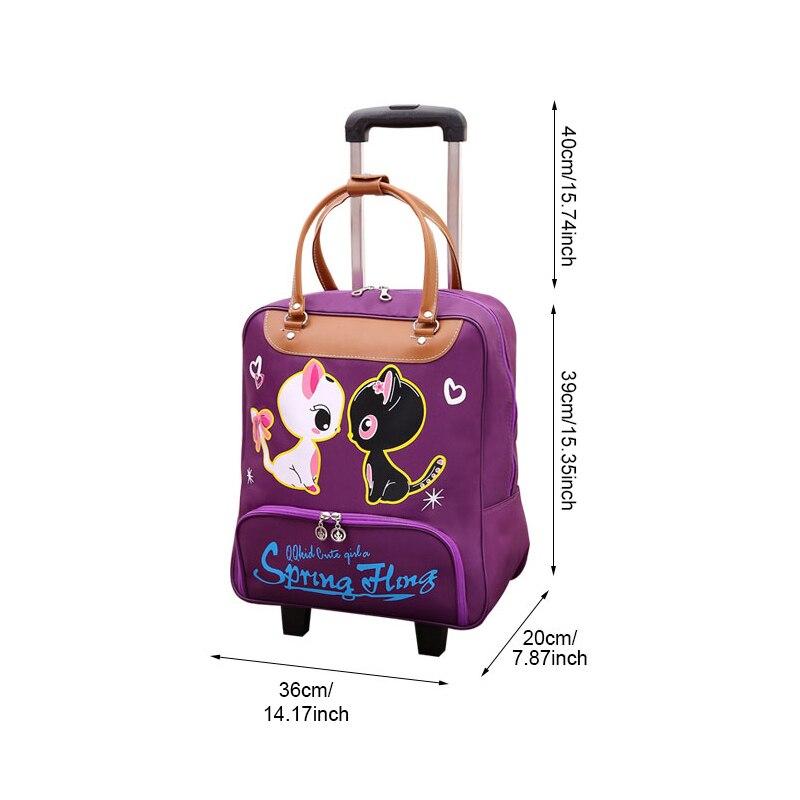 Bolsa de viaje resistente al agua de alta capacidad estilo grueso maleta con ruedas para hombre - 2