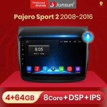 Reprodutor estereofónico gps 2din dvd do jogador 2 do rádio do carro do ruído de junsun 4g + 64g android 10 para mitsubishi pajero esporte 2 l200 triton 2008   2016