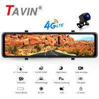 Car DVR 4G Android 8.1 Pro Dash Cam 12 inch 1080P Dual Lens Camera ADAS LED GPS Navigation Rearview Reverse Camera Mirror Record