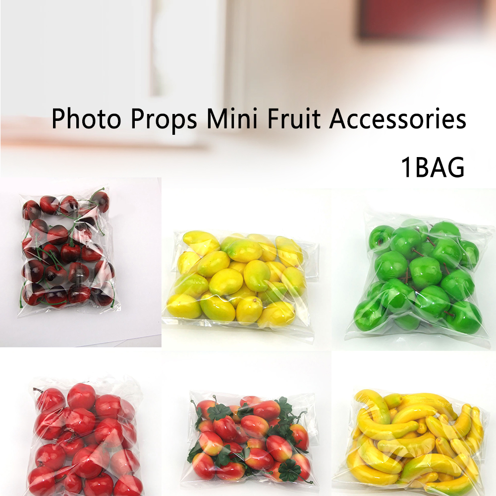 20pcs Craft Fake Party Mini Model Accessories Kitchen Artificial Fruit Home Decoration Wedding Photography Miniature Photo Props