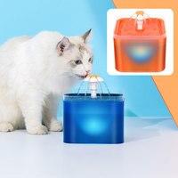 Fuente de agua para gato y perro, bebedero automático con Sensor de movimiento infrarrojo, iluminación LED inteligente, contenedor dispensador de bebidas