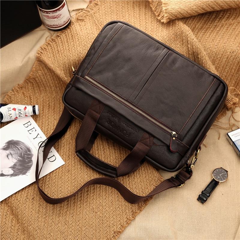 homem portátil bolsa de couro natural para