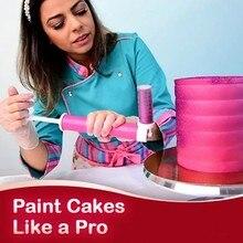 Manual airbrush para decoração de bolo coloração ferramentas de decoração de cozimento bolo pastelaria pulverização tubo cor duster ferramentas de cozimento