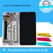 "5.5 ""originale M & Sen Per ZTE Lama A610 Plus Lama A2 Più BV0730 LCD Screen Display + Touch pannello Digitizer Telaio Per A610 Più"
