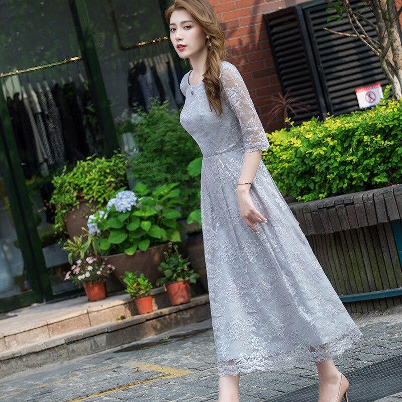 Evening Gown Women's 2019-Style Banquet Elegant Long Elegant Debutante Party Host Dress Slimming