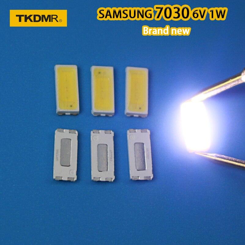 TKDMR 120pcs FOR Repair Sony Toshiba Sharp LED LCD TV Backlight Seoul SMD LEDs 7030 6V Cold White Light Emitting Diode STWBX2S0E