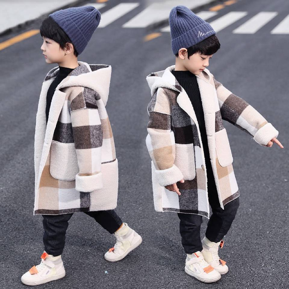 Coat Toddler Kids Autumn Winter Boys for 2-13-Year Long-Sleeve Plaid Casual-Tops Outwear
