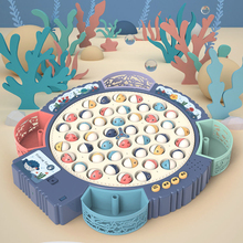 Fishing Toys for Children Boys Girls Magnetic Fish Game Electric Musical Rotating Board Play Outdoor Sports Educational Toys