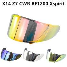 오토바이 헬멧 바이저 X14 Z7 CWR RF1200 Xspirit 풀 페이스 X14 헬멧 바이저 Casco Moto Windshield Capacete 액세서리