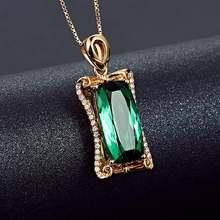 Женское ожерелье с подвеской из камней цвета розового золота