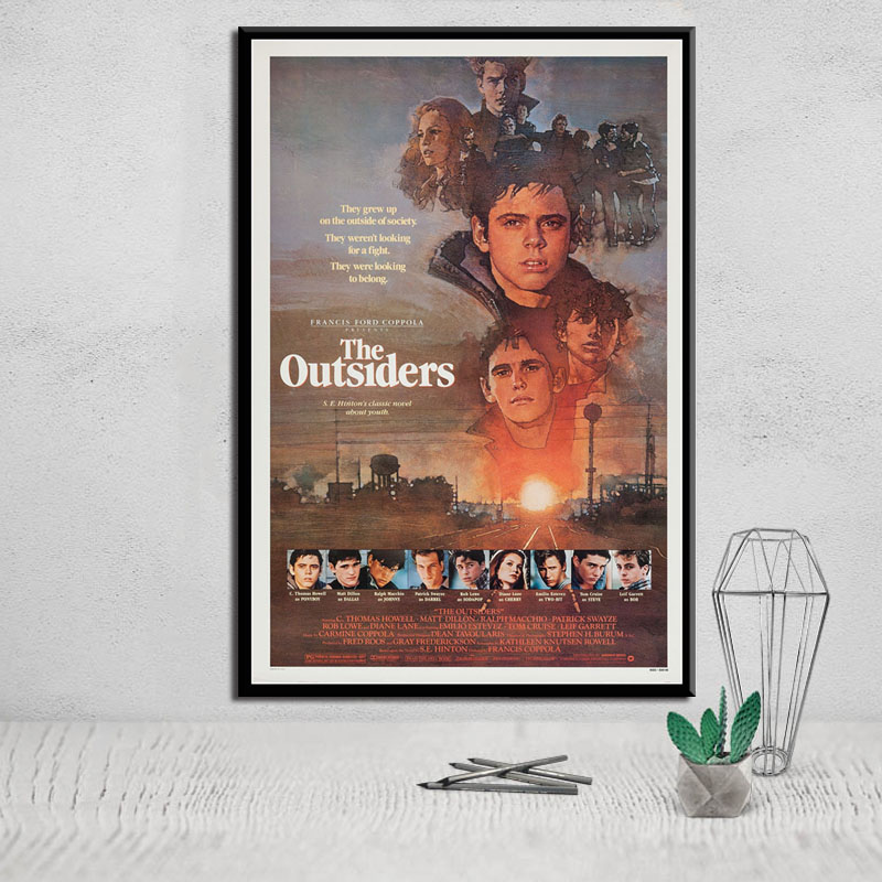 The Outsiders Classic Movie Art Canvas Painting Poster Wall Home Decor