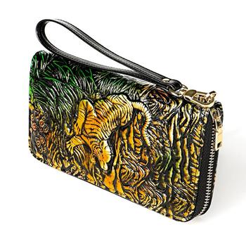 Dragon Pattern Women's Leather Wallet