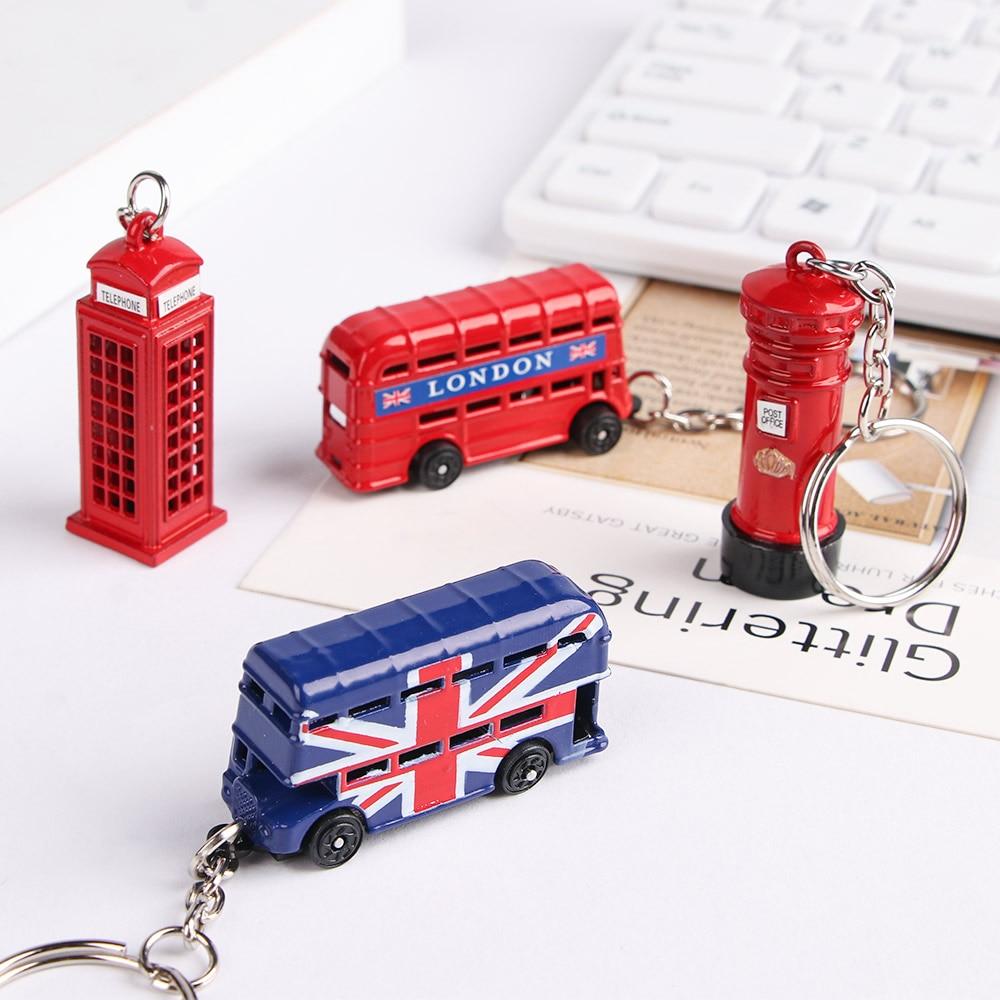 Creative Red Bus Post Box Design Pendant Keychain Travel Souvenir Gifts For Women Men Key Ring London Style Key Pendant