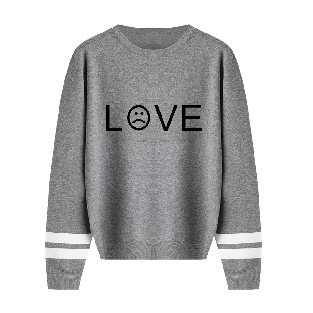 Lil Peep Sweater Autumn Lovers Knitted Pullover O-neck Long Sleeves Sweater Print Women Warm Streetwear High Quality Sweater