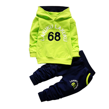 цена на Toddler Tracksuit Autumn Baby Clothing Sets Children Boys Girls Fashion Brand Clothes Kids Hooded T-shirt And Pants 2 Pcs Suits
