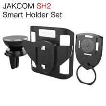 JAKCOM SH2 conjunto de soporte inteligente mejor que mano bolsa correr universal soporte de teléfono para salpicadero de coche tornillo de soporte de teléfono