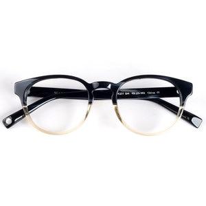 Image 3 - Frauen runde brillen rahmen schwarz/havanna Italien handgemachte acetat