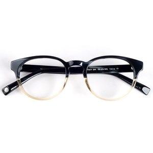 Image 3 - Women round eyeglasses frames black/havana Italy handmade acetate