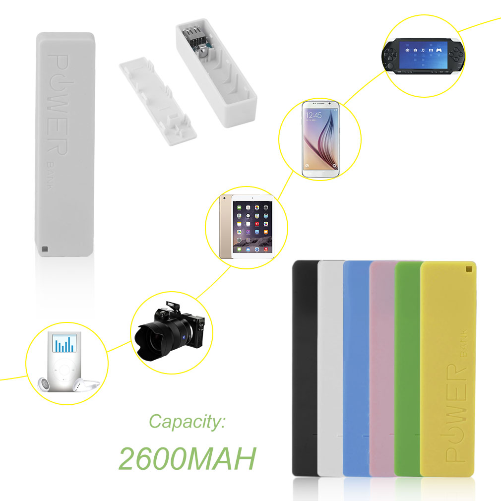 New 2600mAh Portable Size No Battery Powerbank 1*18650 Battery External Backup Battery Charger Power Bank Case For Smart Phone 2