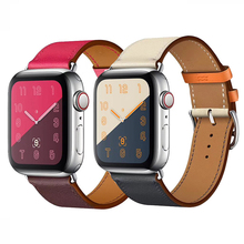 купить Watch band for Apple Watch Band Series 3/2/1 Sport Bracelet 42 mm 38 mm  44mm Strap For iwatch 4 Band leather loop дешево