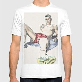 T Shirt Men High Quality Aesthetic Cool Vintage T-Shirt Harajuku Streetwear  Anime Stranger Things Funny Shirts