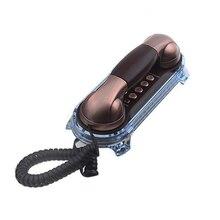Teléfono recortado con cable iluminado antiguo Retro teléfono antiguo moda antigua clásico Vintage teléfono de pared escritorio/pared Hotel Teléfono de baño
