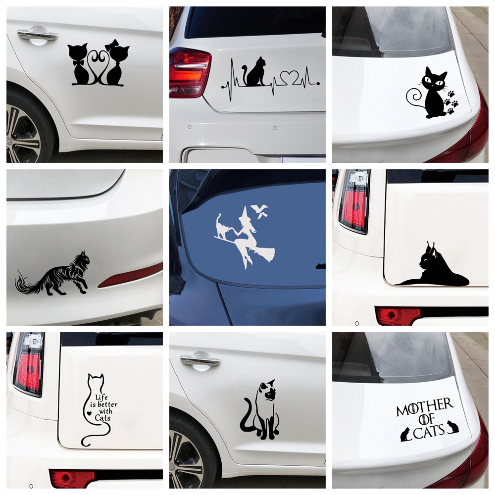10 Styles Cartoon Character Cat Car Stickers Wrap Vinyl For car Door Decal Graphic Universal Car Decoration Sticker Accessories