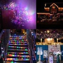 Сказочный свет, гирлянда, медная проволока, 100LED, праздничная наружная сказочная струна, батарея 10 м, садовый светильник, прочный