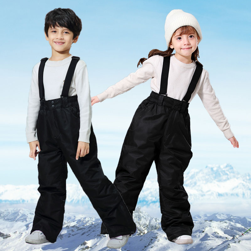 Ski Pants Kids Girls Boy Outdoor Windproof Waterproof Warm Snow Trousers Children Winter Skiing And Snowboarding Pants Brand