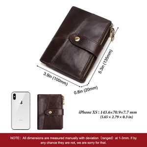Image 3 - GZCZ RFID Genuine Leather Rfid Wallet Men Crazy Horse Wallets Coin Purse Short Male Money Bag Quality Designer Mini Walet Small