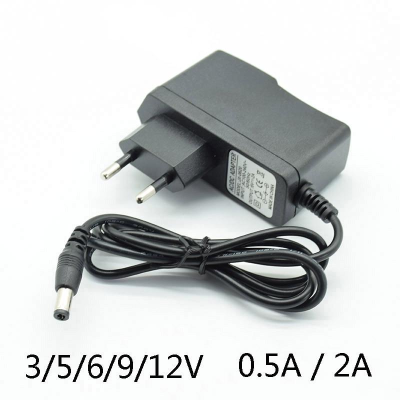 Адаптер преобразователя переменного тока, постоянный ток 3 в, 2 А, 5 В, 2 А, 6 в, 2 А, 9 В, 12 В, 5,5 А, 2,5 мА, 15 В, 1 А, зарядное устройство с европейской вил...