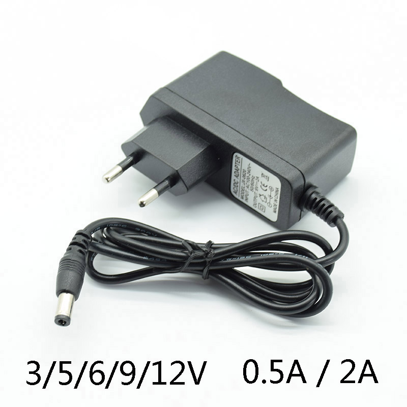 AC Converter <font><b>Adapter</b></font> DC 3V2A 5V2A 6V 2A 9V 12V 0.5A 500mA <font><b>15V</b></font> 1A Power Supply Charger EU Plug 5.5mm * 2.5mm(2.1mm) With lamp image