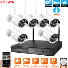 Nvr-Kit Cctv-System Audio-Ip-Camera WIFI Security Outdoor Wireless Night-Vision 1080P