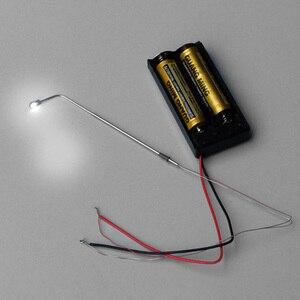 Image 3 - 1000Pcs 1/75 סולם חול שולחן רחוב מנורת דגם LED רחוב אורות קישוט 3V יחיד ראש פנס כסף